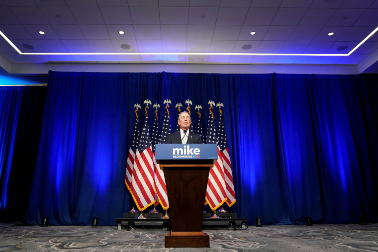 Image: Democratic U.S. presidential candidate Michael Bloomberg addresses a news conference after launching his presidential bid