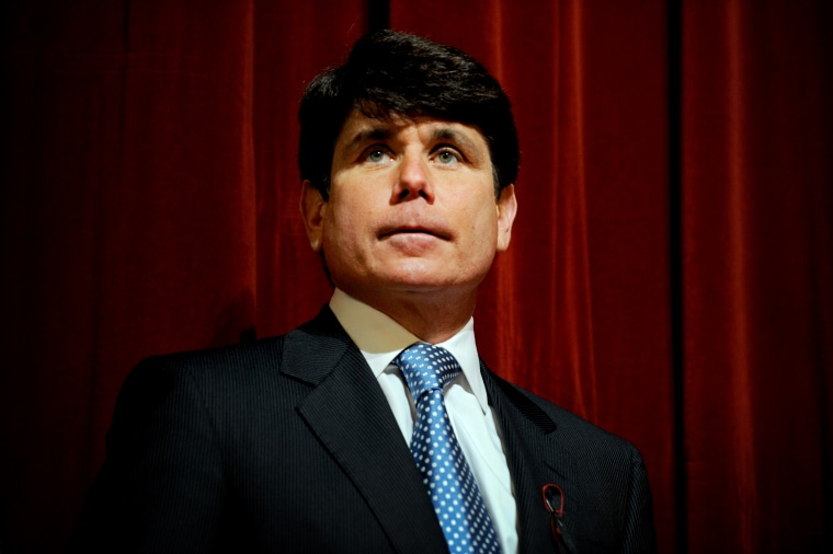 Image: Illinois Governor Rod Blagojevich attends a press conference at Northern Illinois University on Feb. 15, 2008.
