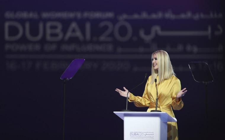 Ivanka Trump's latest Dubai trip proves misogyny has powerful Western enablers
