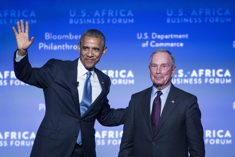 Image: Barack Obama and Mike Bloomberg