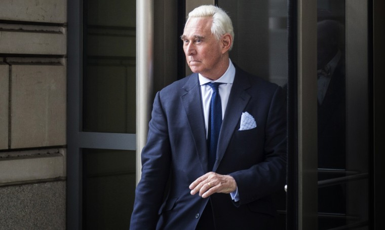 Image: Roger Stone leaves court after an arraignment hearing in Washington on Jan. 29, 2019.