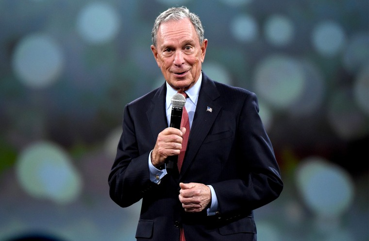 Image: Mike Bloomberg speaks at the Jacob Javitz Center in New York in 2018.