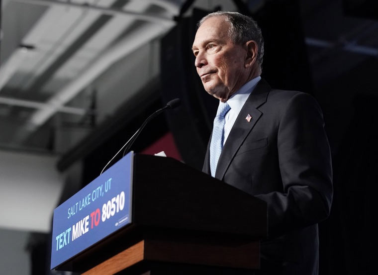 Image: Presidential Candidate Mike Bloomberg Holds Campaign Rally In Salt Lake City
