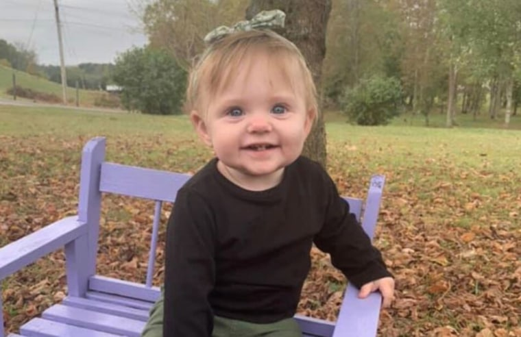 Image: 15-month old Evelyn Mae Boswell, who is missing
