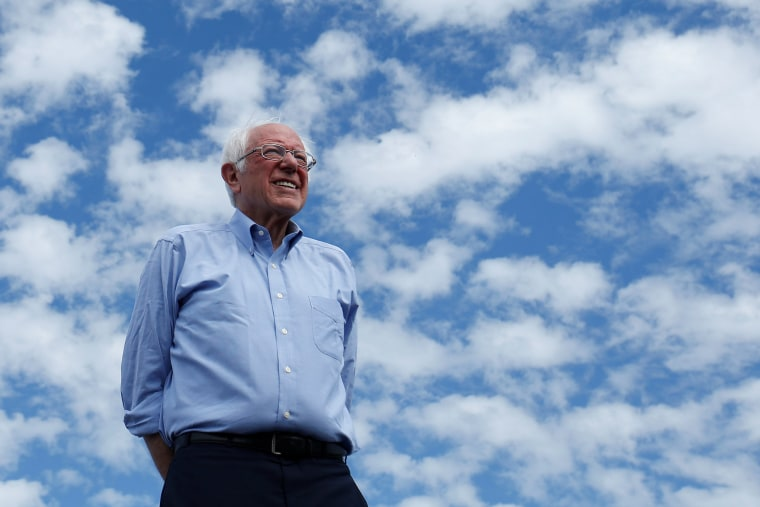 Image: Bernie Sanders at a Get Out the Early Vote campaign rally in Santa Ana, Calif., on Feb. 21, 2020.