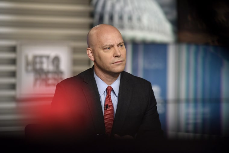 "Image:Marc Short, chief of staff to the Vice President, appears on ""Meet the Press"" On Feb. 23, 2020."