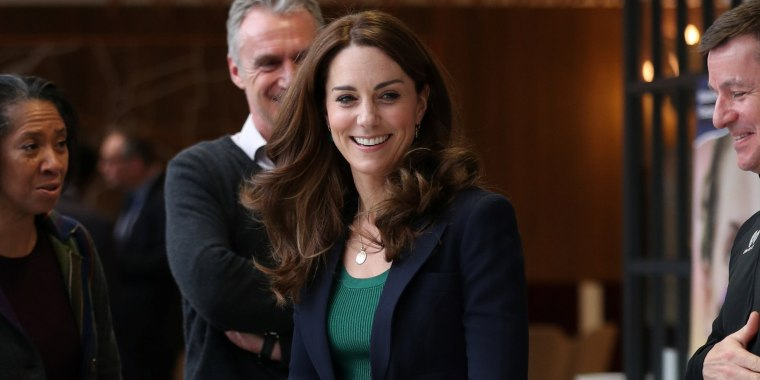 Image: Britain's Catherine, Duchess of Cambridge, attends a SportsAid event at the London Stadium in London