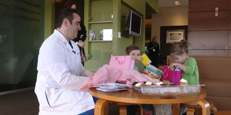 Dr. Eric Grossman, Chloe Davidson and Joelle Davidson all share the same rare birthday.