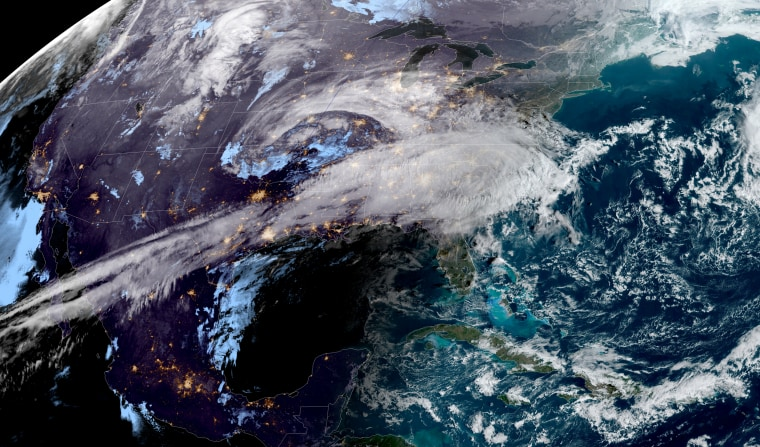 Image; The weather over the United States on Feb. 24, 2020.