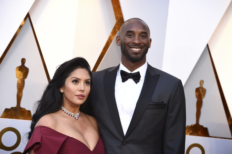 Image: Vanessa and Kobe Bryant arrive at the Oscars on March 4, 2018 in Los Angeles.