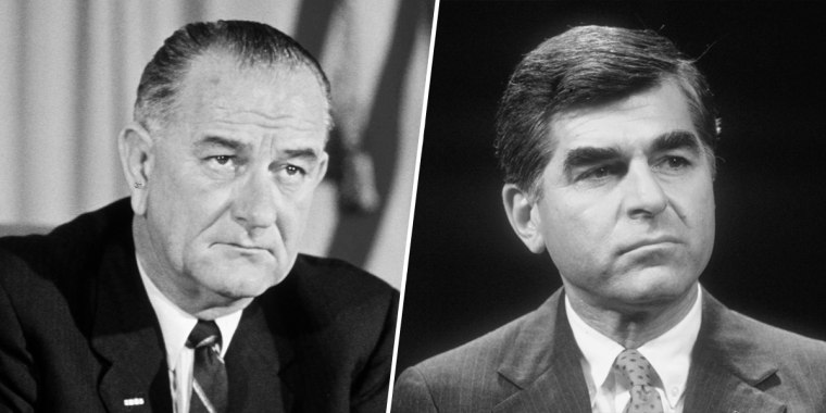 Lyndon Johnson and Michael Dukakis