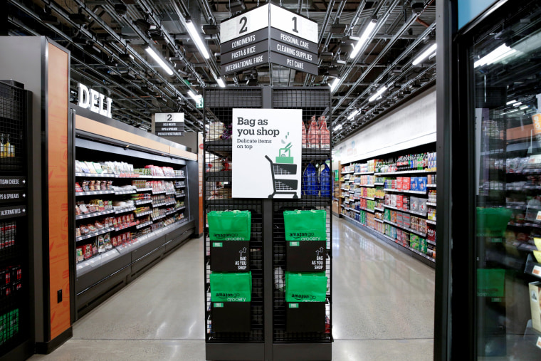 Image: An Amazon Go store, a checkout-free grocery store, in Seattle on Feb. 21, 2020.