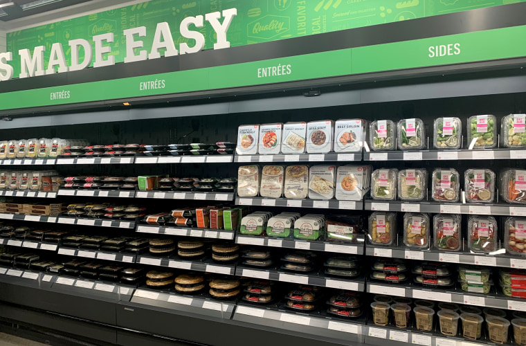 Image: Ready meals at the Amazon Go store in Seattle.