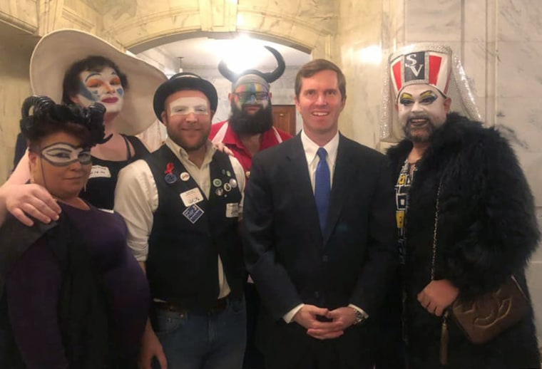 Derby City Sisters and Kentucky Fried Sisters with Governor Andy Beshear