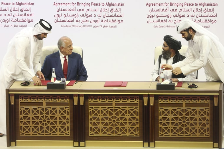 Image: Taliban peace agreement