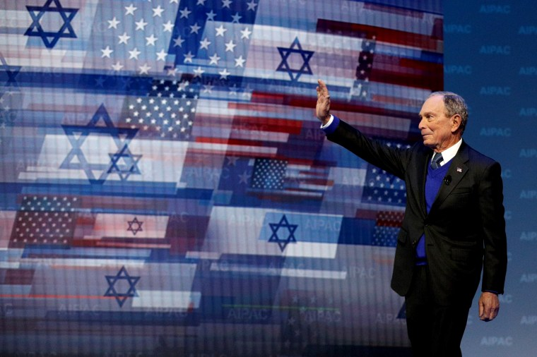Image: Mike Bloomberg arrives to speak at the AIPAC Convention in Washington on March 2, 2020.