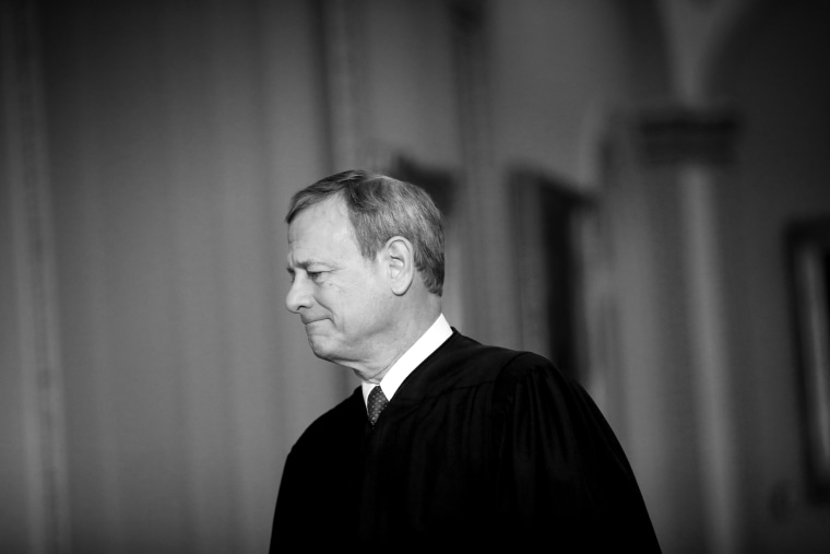 Image: Chief Justice John Roberts at the Capitol on Jan. 16, 2020.