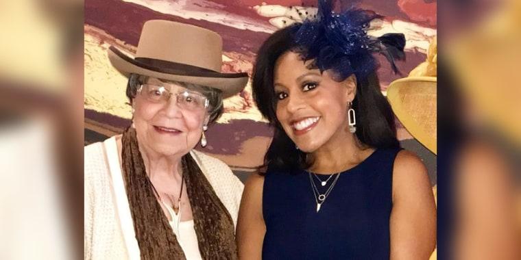 Sheineille Jones with her grandmother, Jo Brown.