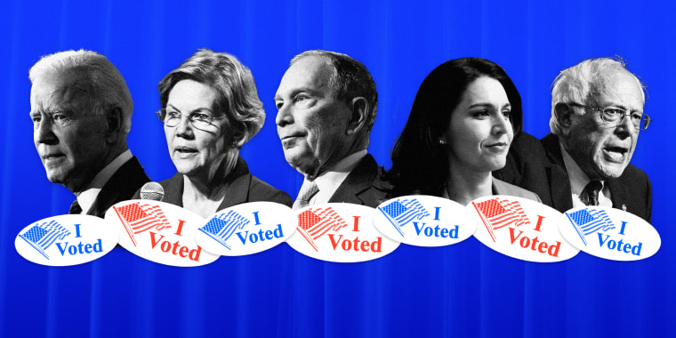 """Image: Voters will cast ballots in Democratic primaries in 14 states on """"Super Tuesday,"""" March 3, 2020."""