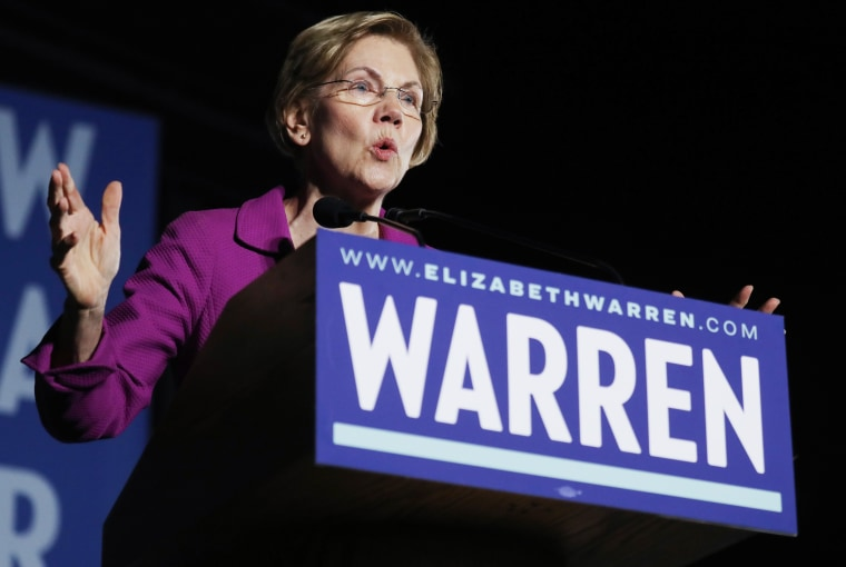 Image: Democratic Presidential Candidate Elizabeth Warren Gives Campaign Speech In East Los Angeles Day Before Super Tuesday