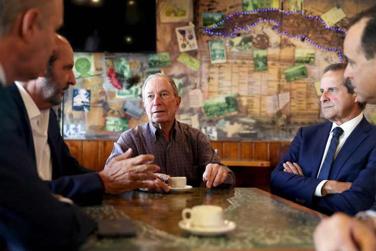 Image: Presidential Candidate Mike Bloomberg Visits Miami's Little Havana