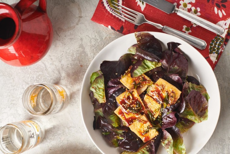 The flavors of Korean cooking are front and center in this tofu salad.