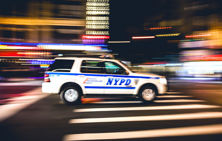 New York Police Department car in Times Square