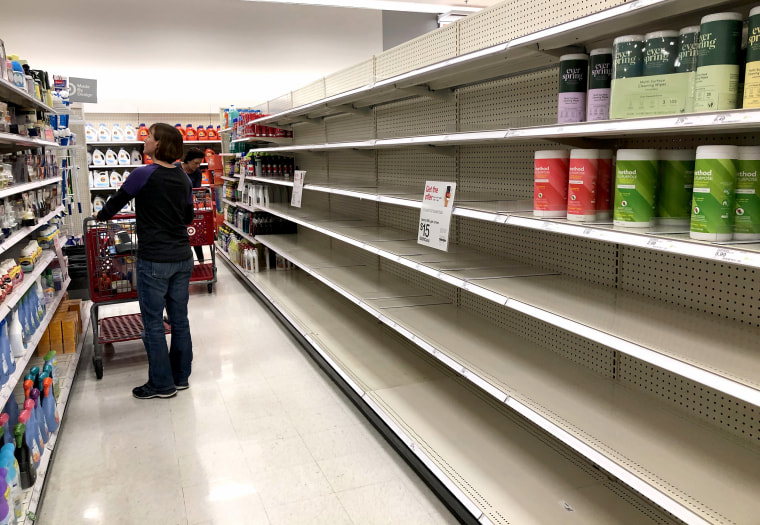 Image: Fears Of Coronavirus Spreading Causes Shortages Of Supplies At California Stores