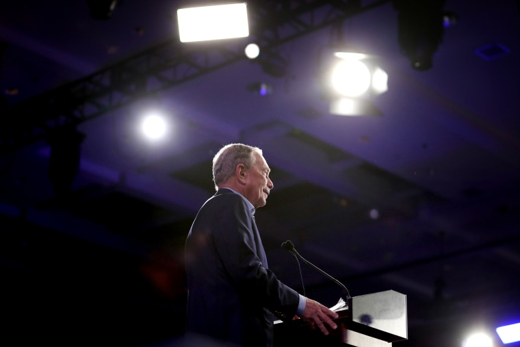 Image: \Mike Bloomberg speaks at a Super Tuesday event in West Palm Beach, Fla., on March 3, 2020.