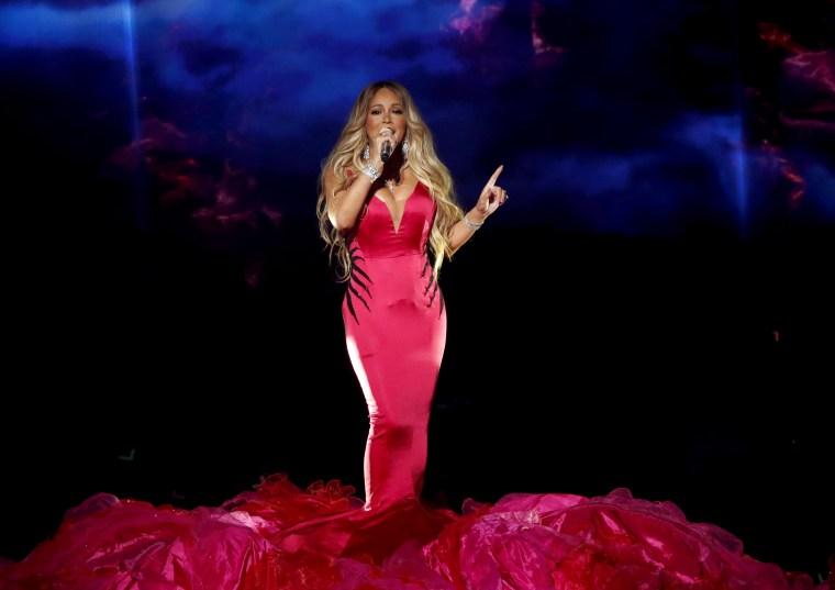 Image: Mariah Carey performs in Los Angeles in 2018.