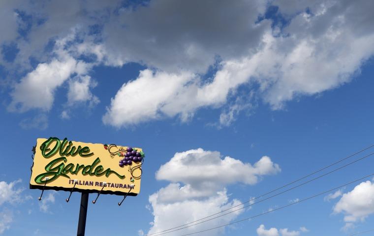 An Olive Garden restaurant.