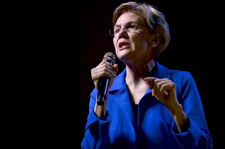Image: Sen. Elizabeth Warren holds a campaign rally in S.C. on Feb. 26, 2020.