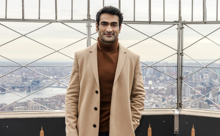 Kumail Nanjiani, executive producer of Little America, at the observatory of the Empire State Building in New York City on Feb. 5, 2020.