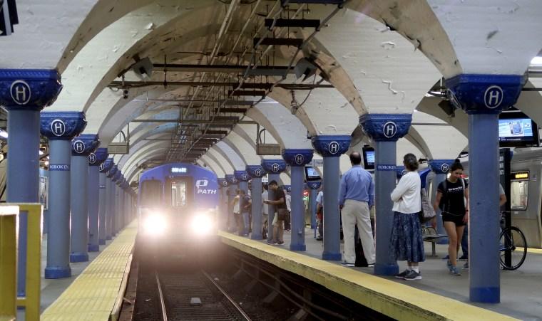 PATH Train in Hoboken, New Jersey