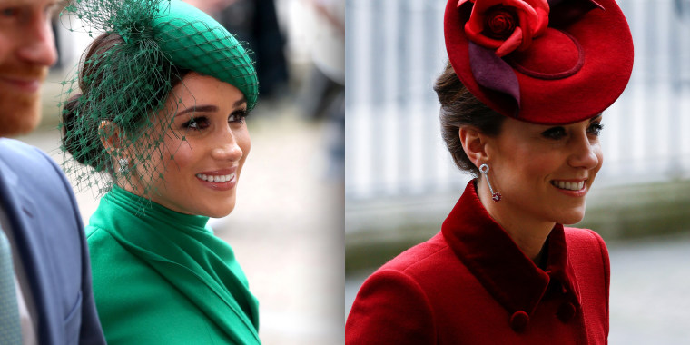 Both duchesses sported stylish ensembles to the annual event.
