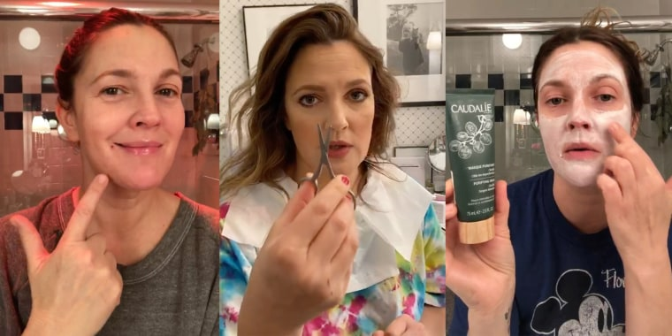 Drew Barrymore has been sharing her beauty tips on Instagram this week.
