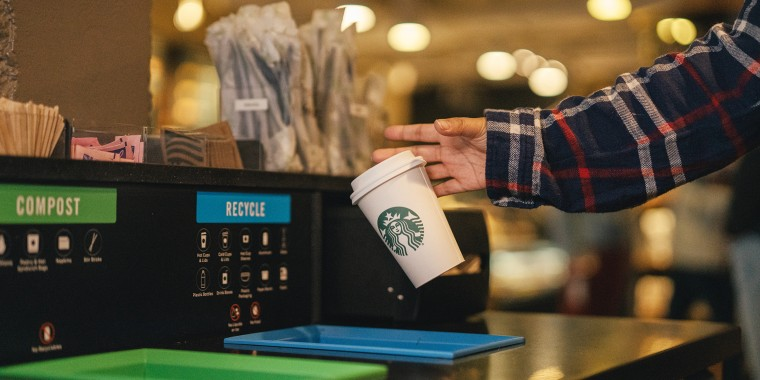 Starbucks' new paper cups won't be lined with plastic.