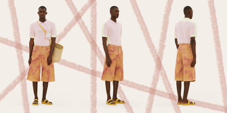 Fashion designer Jacquemus designed a pair of matching shorts and pants with a print that resembles a skin rash.
