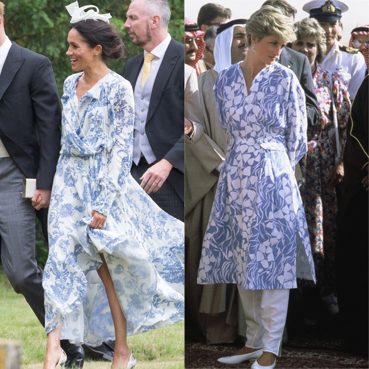 These two printed dresses look so similar.