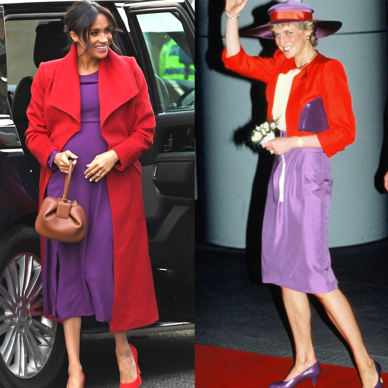 The duchess and Diana both looked great sporting this color combo.