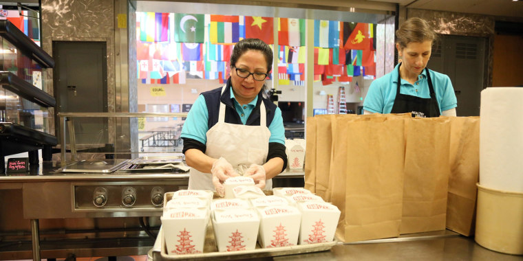 The Northshore School District is preparing meals for students who must stay home for two weeks as a precaution against the spread of the coronavirus.