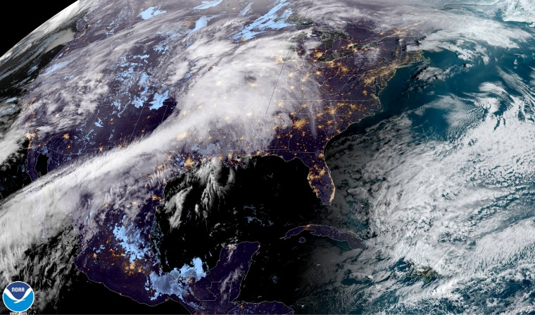 Image: The weather over the United States on early March 9, 2020.