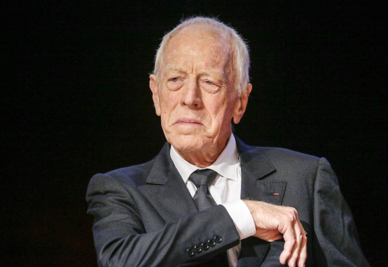 Swedish actor Max Von Sydow in 2015.
