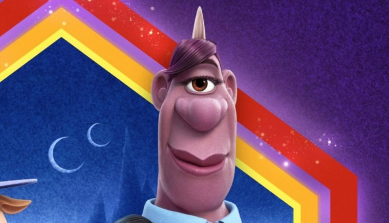 """Lena Thwaite voices a purple cyclops officer named Specter in \""""Onward.\"""""""