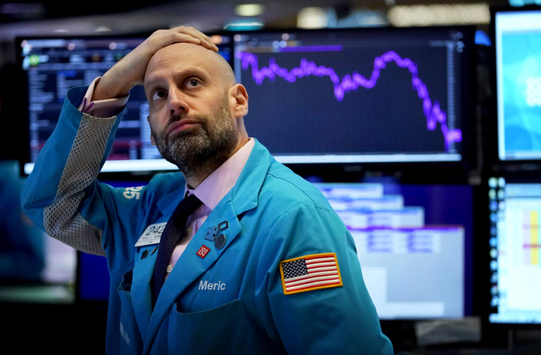 Image: Trading on Wall Street was temporarily halted as U.S. stocks plummeted on March 9, 2020.