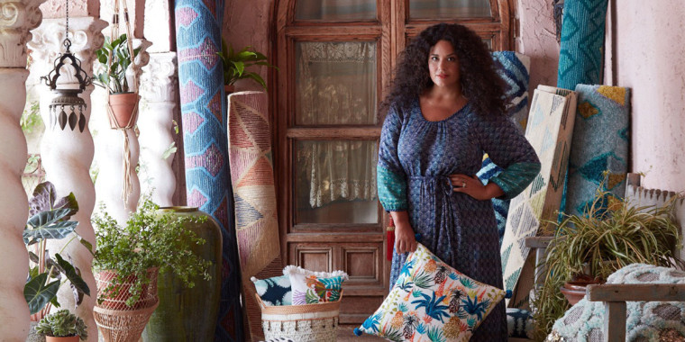 Designer Justina Blakeney is the founder and director of Jungalow, a home design empire.