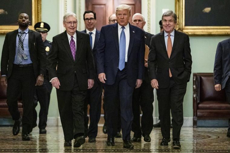 Image: BESTPIX - President Trump Meets With GOP Lawmakers On Capitol Hill On Coronavirus Plan