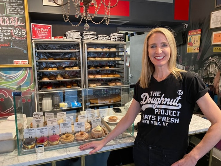 Executive director and co-founder of The Doughnut Project Leslie Polizzotto.