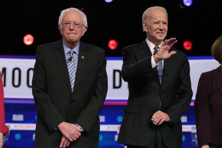 Image: Bernie Sanders and Joe Biden