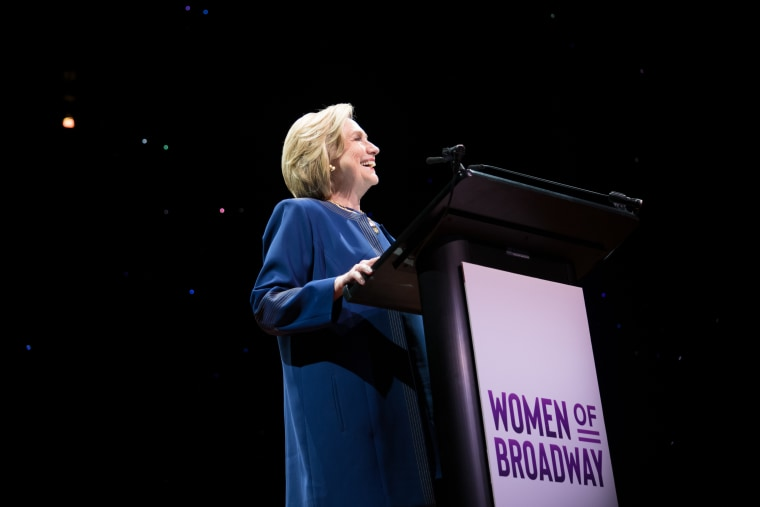 Secretary Hillary Rodham Clinton delivering the Closing Keynote Speech at this year's Women of Broadway 2020.